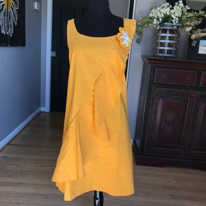 Moschino Dress with Flower Pin and Ruffle Size 8